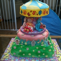 In The Night Garden   3 tier sponge with fondant figures