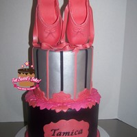 Ballet Slippers Cake for my daughter's birthday