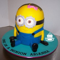 Minion Cake Made for my granddaughter's 1st birthday.