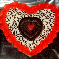 Heart Cookie With Chocolate Center