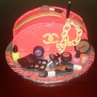 Pink Chanel Purse Cake