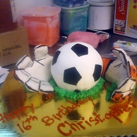 Goalie Gloves RKT and fondant gloves soccer bsall cake