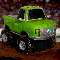 "New Monster Truck Cake A shot of my latest Truck Cake. About 14"" tall."