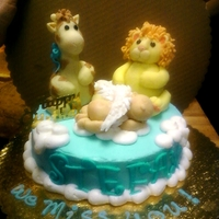 Little Boy Blue cake made for a baby's first birthday in memorium :o(