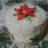 Poinsettia Coconut Cake