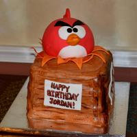 Angry Bird Cake   All cake covered in fondant.