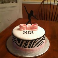 Dancer Cake With Zebra Print