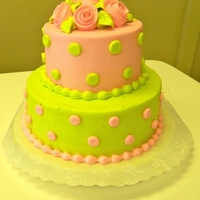 Pink And Green All buttercream birthday