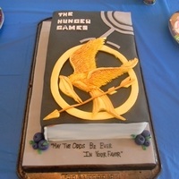 The Hunger Games Chocolate cake, chocolate buttercream, fondant