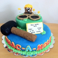 Mole Day 2011 - Whac-A-Mole Woodlands Prep Mole Day Cake: Two tiers