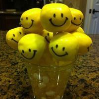 Smiley Face Cake Pops Get Well cake pops for my little friend with a broken arm.