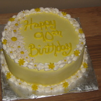 90Th Birthday Wanted to keep this one simple.. they wanted her cake to have her birth month flower (daisies) in yellow and white. Simple and pretty for a...