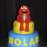 Elmo! Elmo for Nolan's first birthday.Elmo's body is cake, other decorations are MMF.