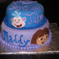 Dora And Boots! Dora and Boots cake for Maddy and Jake!