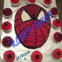 Spiderman Cake And Cupcakes Made For My Nephews Birthday   Spiderman cake and cupcakes, made for my nephews birthday.