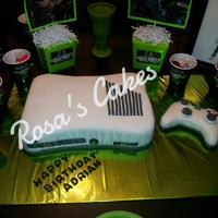 Xbox 360 Slim For My Sons Bday He Was Very Excited Xbox Vanilla Cake And Buttercream Filling Covered In Mmf Controller Is Rice Crispie  Xbox 360 slim for my sons bday. He was very excited... Xbox-Vanilla cake and buttercream filling, covered in mmf. Controller is rice...