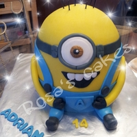 My Son 14Th Birthday Cake Thought Ill Make Him A Minion Cake He Loved It My son 14th birthday cake. Thought I'll make him a minion cake. He loved it...
