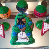 Tmnt Cake For My Sons 4Th Birthday His Favorite Is Leo So I Decided To Add The Others On The Side My Baby Was Pretty Amazed With His Cake  Tmnt cake for my sons 4th birthday. His favorite is leo so i decided to add the others on the side. My baby was pretty amazed with his cake...
