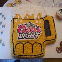 Coors Light Fbct  My first time doing a fbct, always wanted to try but never did. I liked it, it was fun and i was glad with results. Cream cheese cake with...
