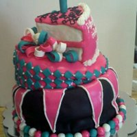 Crazy Cake For my sweet niece wasc raspberry mouselline