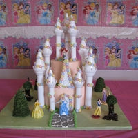 Princess Castle Cake I made this cake for my daughters 4th birthday. i got the idea from teranorlando on youtube. she did a much better job for sure but i am...
