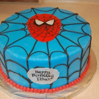 Spiderman 8 in round covered in BC with fondant accents