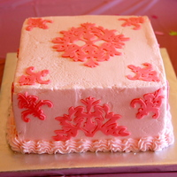 Damask Pattern made for a baby shower. the damask pattern matched the baby's bedding