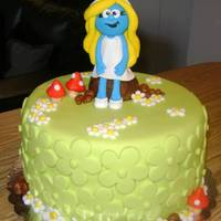Chocosmurfette This was a strawberry chocolate cake I made for a friend?s girlfriend in her birthday, I think Smurfette looks great!