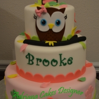 Owl Cake all is fondant