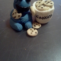 Gumpaste Cookie Monster   Cookie monster