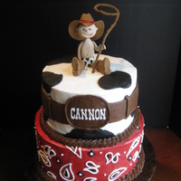 Cowboy Baby This was made to match my friends invitation :)