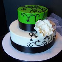 Black And Green Bridal Shower