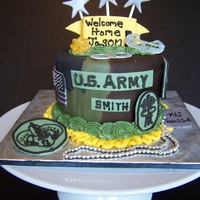 Home Coming Cake for a soldier coming home from Iraq. fondant, gumpaste, royal icing