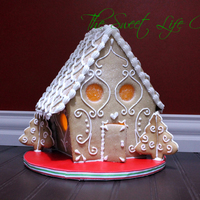 Lighted Gingerbread House Totally edible minus the lights :)