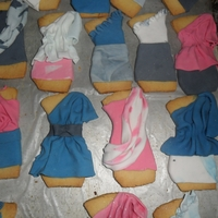 Fashion Cookies   dresses, shoes sugar cookies and vanilla fondant