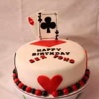 Card Cake Playing card cake