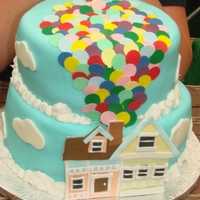 Up House Cake   Designed after another up house I have seen somewhere on the internet.