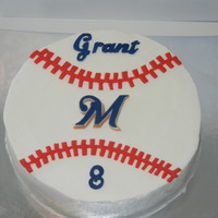 Brewer Baseball Birthday cake for a boys party