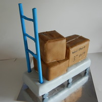 Ladder Cart Cake