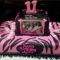 Mindless Behavior 11th Birthday Cake for a little girl who loves the teen group Mindless Behavior. All decorations fondant. TFL