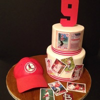 Stl Cardinals Baseball I made this for my nephew's birthday. He is infatuated with the St. Louis Cardinals! My edible image printer was broken, so the...