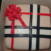 Burberry Gift Box Cake