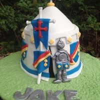 Knight In Shining Armour My son's 9th Birthday Cake, inspired by Debbie Brown