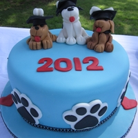 Puppy Graduation Cake   Made for the Moms & Dads of my puppy's obedience training class