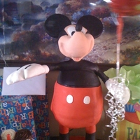 3D Mickey My first attempt at a 3d cake. I made it for my son's 3B-day not sogreat but my son loved it so I'm happy for that.