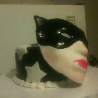 Individual Cake The girl was into mask..... Gumpaste mask..