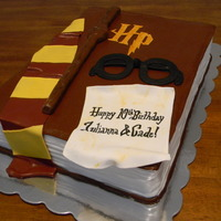 Harry Potter Cake Made this cake for twins who love Harry Potter. Thanks to inspiration from a baker on CC, made this cake. It was alot of fun. All is...
