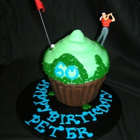 Golf Giant Cupcake Giant cupcake for golf lover