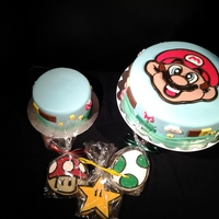 Mario Bros Bday First time using a photo as a fondant puzzle. Took me 6 hrs (don't laugh too hard at that lol)!!