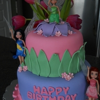 Tinkerbell Cake This is a cake I did for my good friend's little girl. She saw a picture of this cake on this site I believe, but I've been...